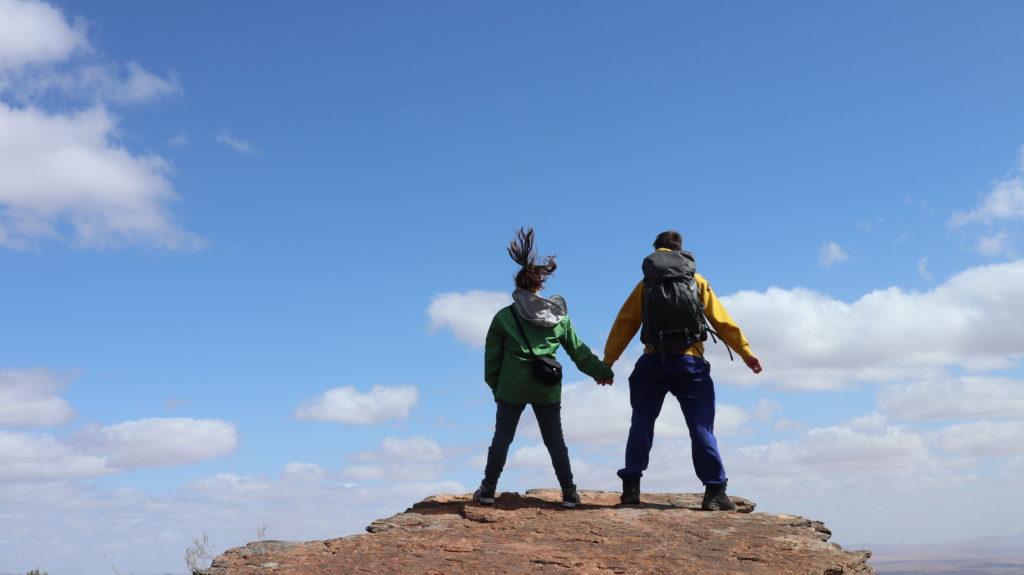 Wir auf den Flinders Ranges