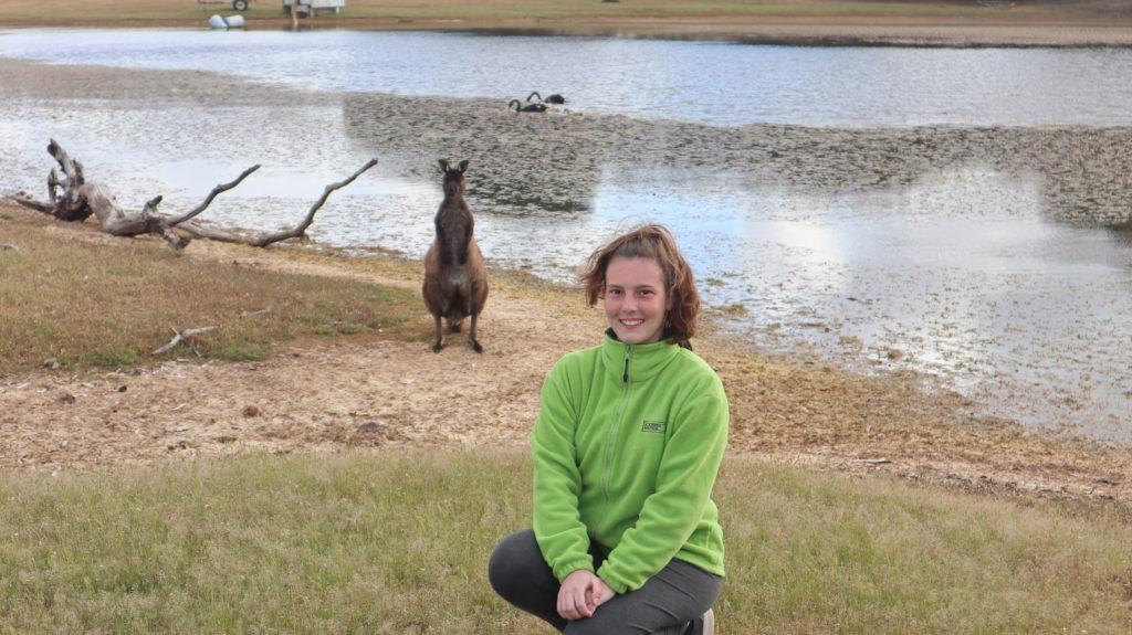 Kangaroo Island Jenny mit Känguru