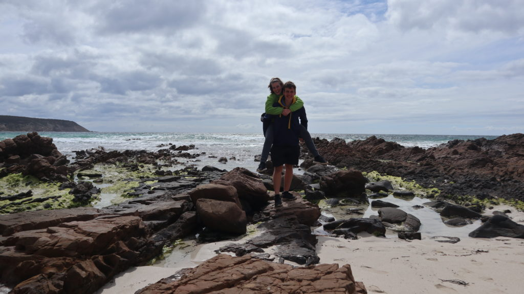 Kangaroo Island Reisebericht wir am Strand