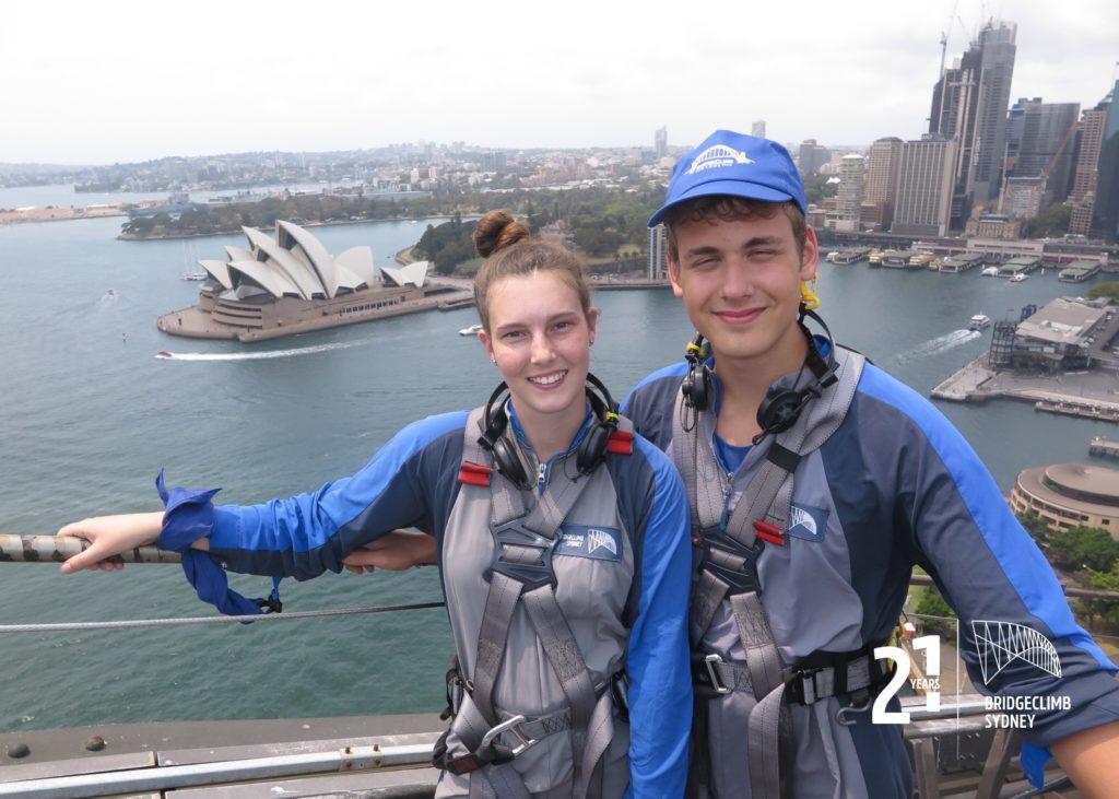 Bridge Climb Sydney wir auf der Brücke
