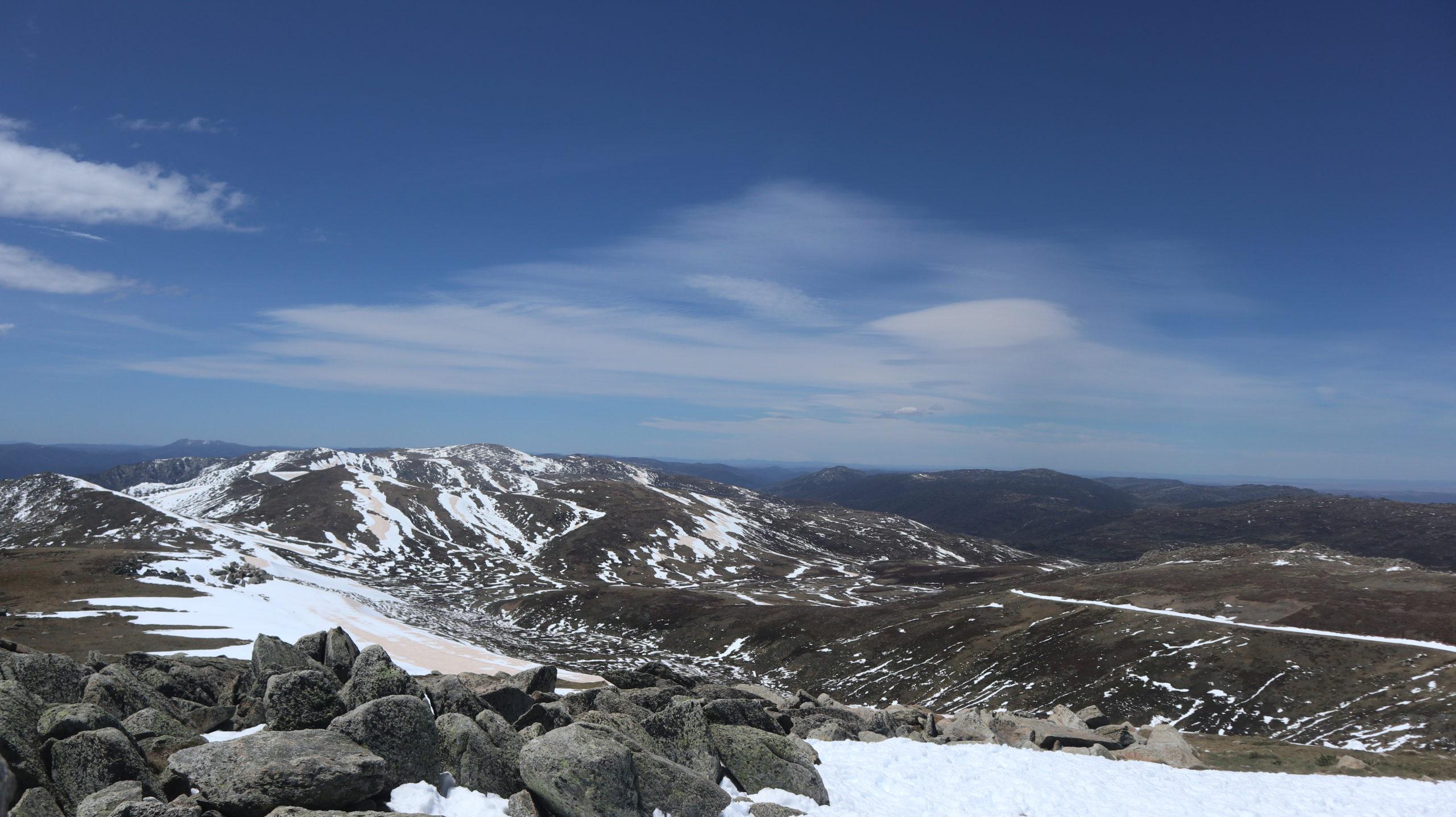Aufstieg zum Mount Kosciuszko Landschaft