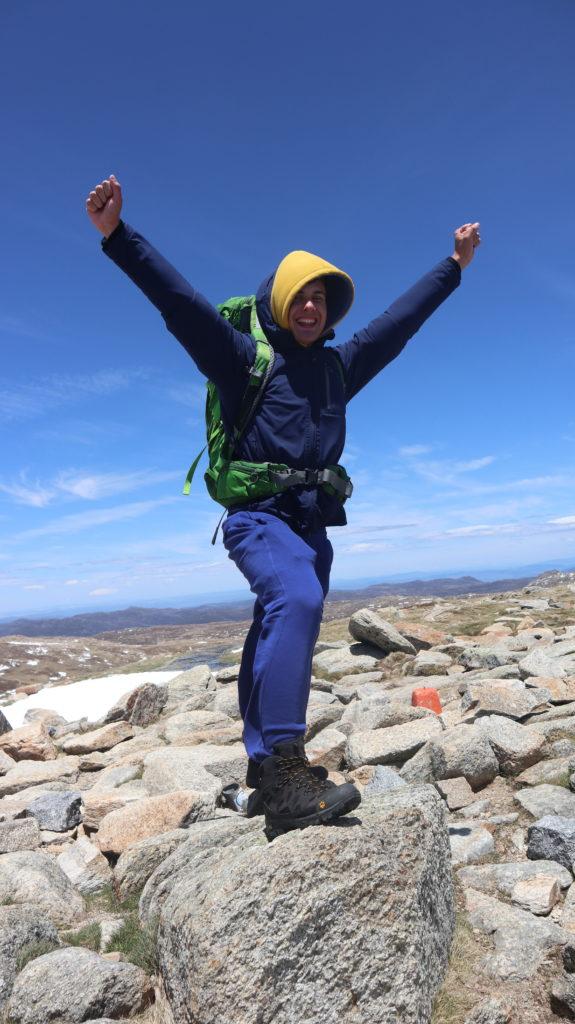 Aufstieg zum Mount Kosciuszko Daniel