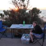 Die erste Nacht im Auto am Henley Beach
