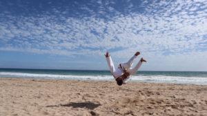 Judo am Strand
