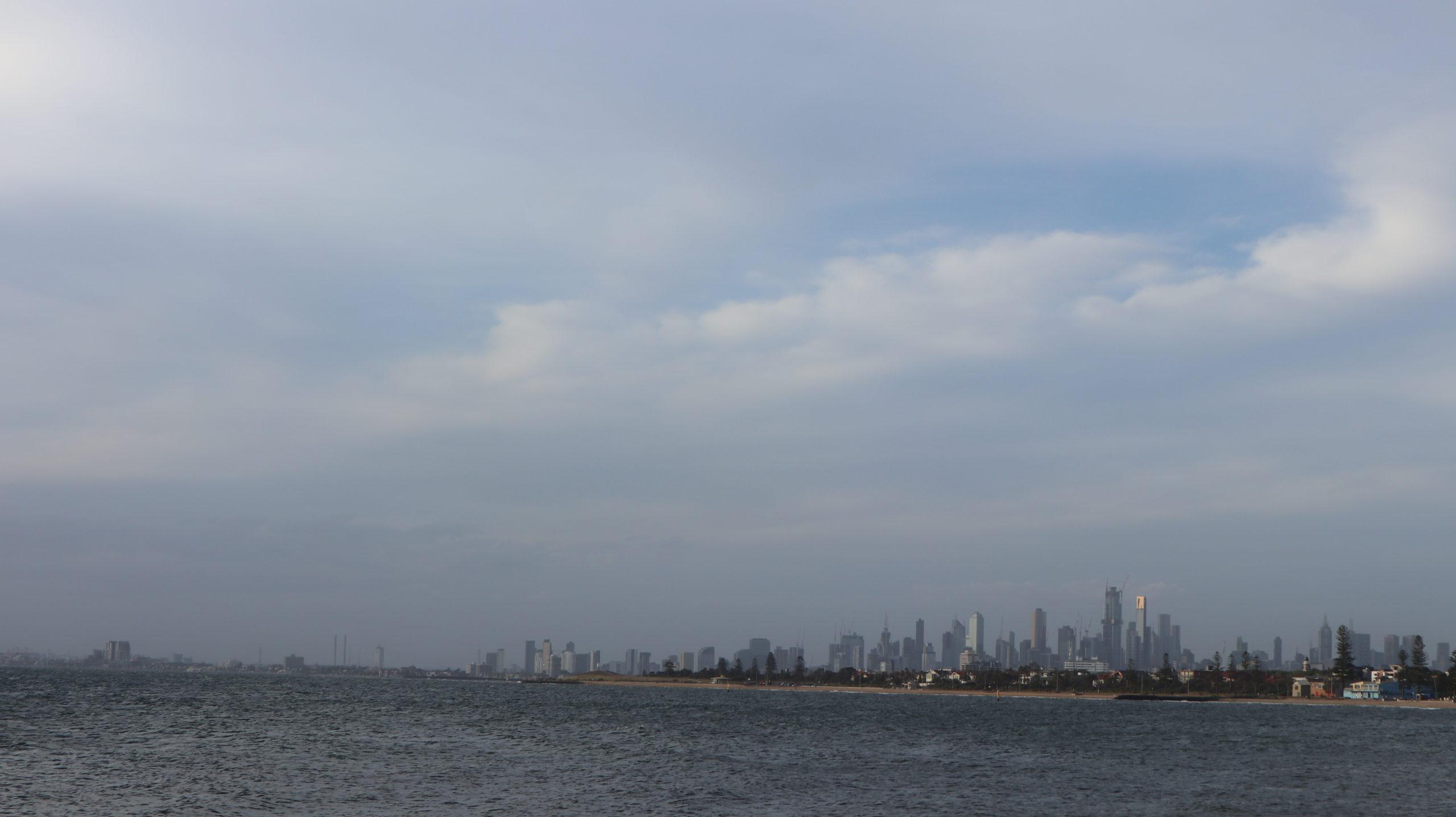 Melbourne und Meer
