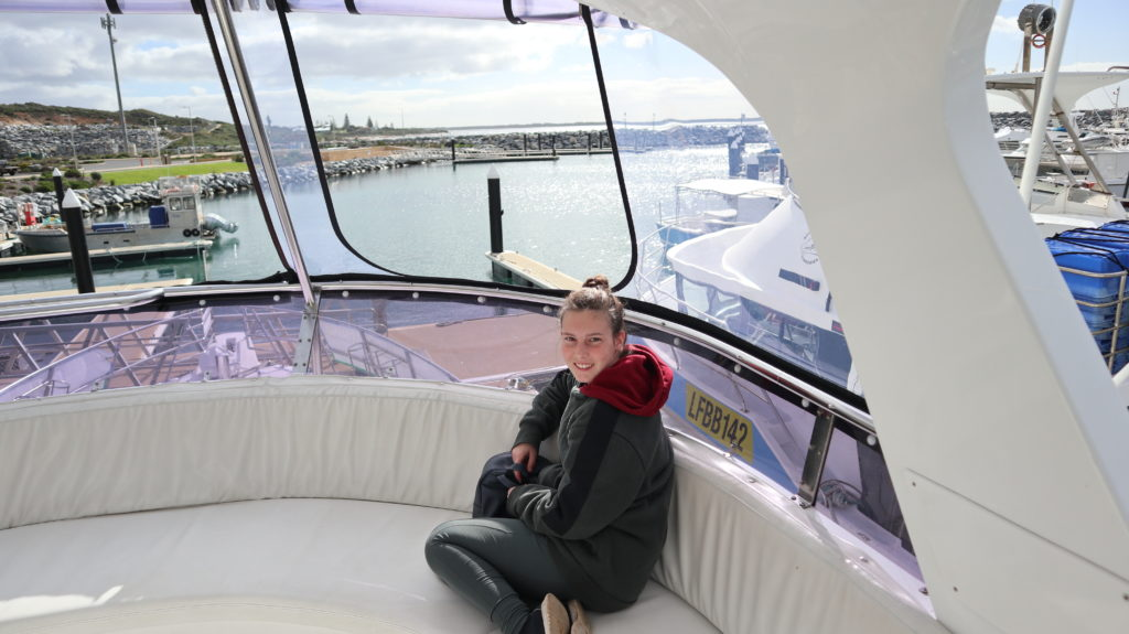 Jenny bei der Whale Watching Tour