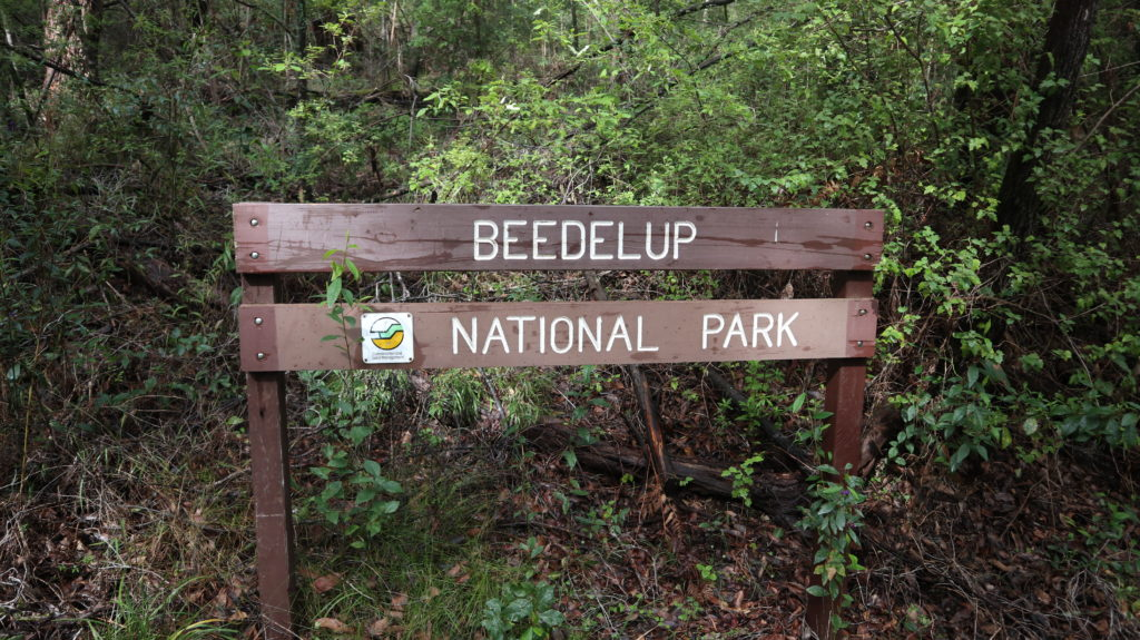 Beedelup Nationalpark Schild