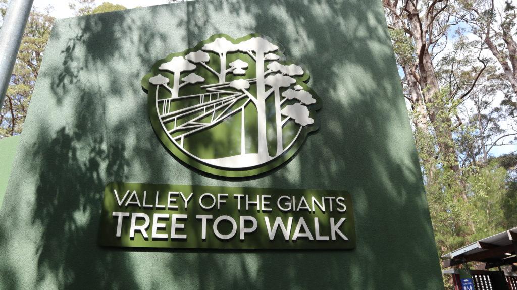 Valley of the Giants Tree Top Walk Schild