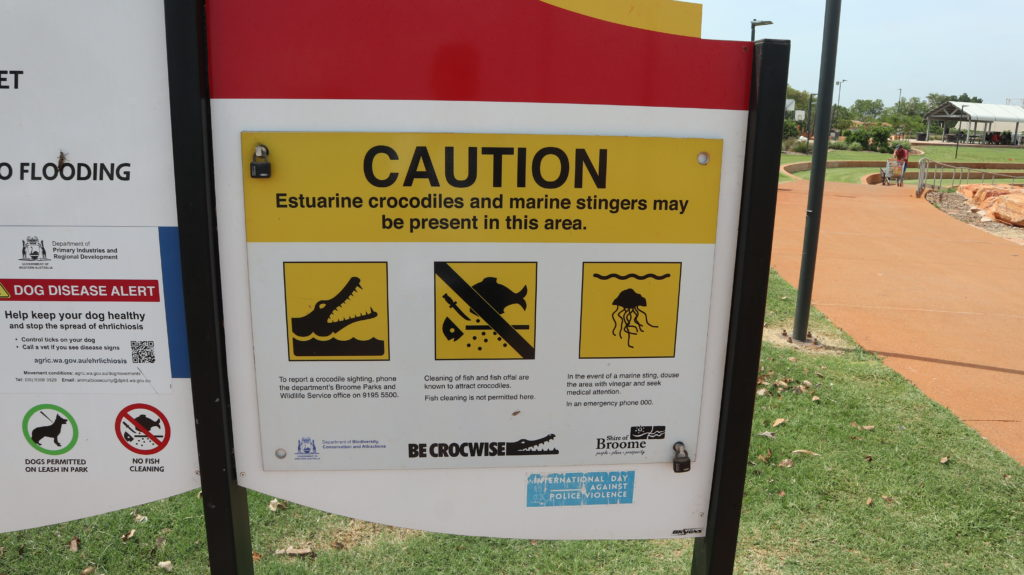 Warnungen in Broome