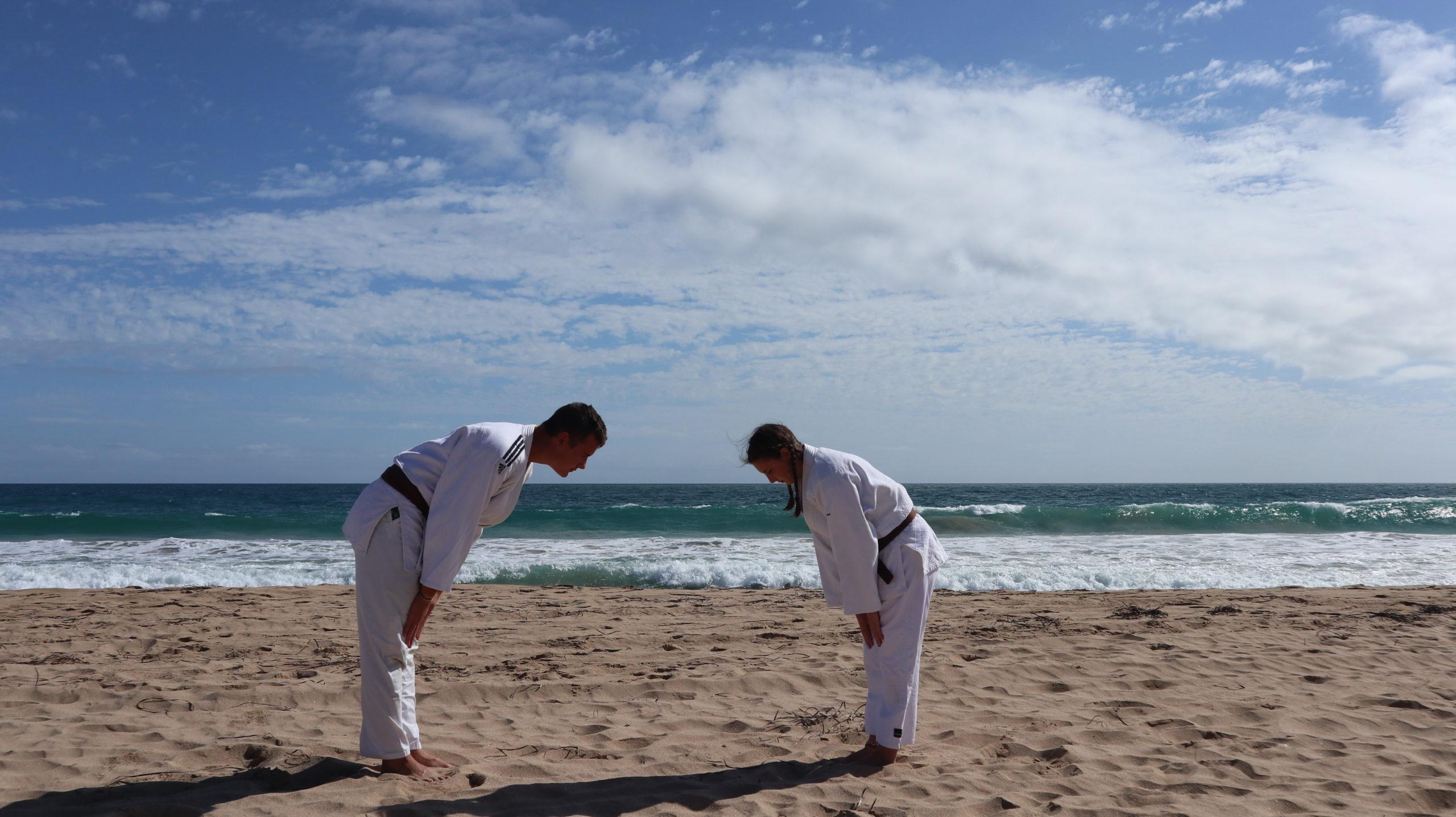 Judo in Australien am Strand